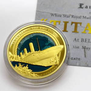 Titanic Medaille in Gold